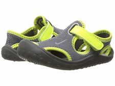 New Nike Baby Sunray Protect Water Sandals Dark Grey/Volt Infants Size 5