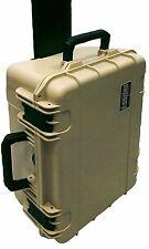 Desert Tan SKB Case 3i-1914-8T-C With Foam & Pelican TSA- 1550 lock. With Wheels