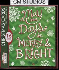 CHRISTMAS CARDS, MAY YOUR DAYS BE MERRY & BRIGHT , BOX OF 16, ONLY $7.99 PER BOX
