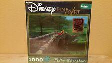 Disney Fine Art Puzzle 1000 Pc Fishing With Friends (Winnie Tigr) New. Look ! !