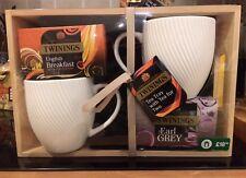 Twinings Tè Vassoio con tè per due SET REGALO (inglese per colazione & Tè Earl Grey)