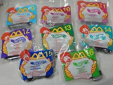 1999 McDonald's Happy Meal Hot Wheels Complete Set of 8 New In Package 8-16 Cars
