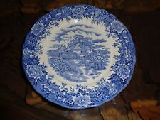 Salem China Co Ltd ENGLISH VILLAGE Dinner Plate Blue And White Meakin