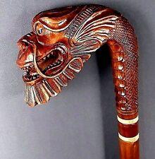 Dragon Hand Carvin Canes Walking Sticks Wooden Unique Handmade Cane Hiking Stick