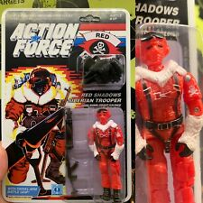 Black Major Gi Joe Action Force Red Shadow Snow Serpent 1985 Mint Lot A L@@k