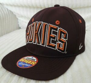 Youth Virginia Tech Hokies Flat Bill Hat Cap Zephyr Adjustable NWT New
