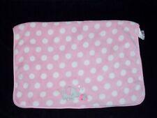Cuddletime Cuddle Time Baby Girl Pink White Polka Dot 2 Elephant Blanket Hearts