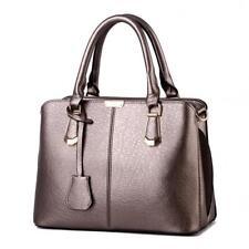 Large Capacity Women Handbag Shoulder Messenger Tote Faux Leather Organiser Bag