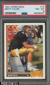 1991 Upper Deck #3 Brett Favre Atlanta Falcons RC Rookie HOF PSA 8 NM-MT