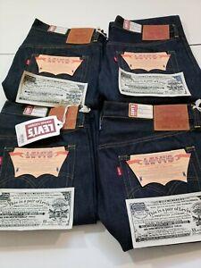 Levi's LVC Big E 1944 S501XX Jeans WW2 Raw Indigo Selvedge USA Cone Denim sz 36