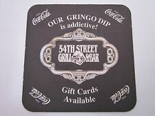 Beer COASTER ~ 54th Street Grill & Bar ~ Coca-Cola ~ Texas & Missouri Locations