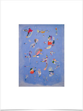 WASSILY KANDINSKY BLEU DE CIEL LIMITED EDITION BIG BORDERS ART PRINT 18X24 blue