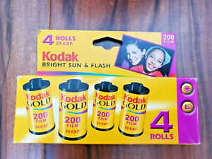 NEW - Kodak Gold 200 Film ISO 200-24  Bright Sun and Flash 4 Roll Pack exp 12/04