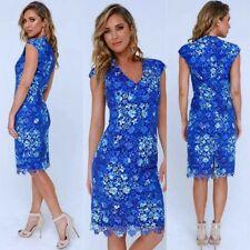 Gorgeous Lace Floral  Blue Dress Size 12