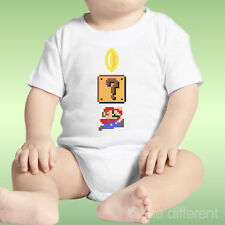 Body Neonato Unisex Super Mario Bross Soldino 8 Bit Idea Regalo