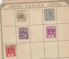 MK172 CEYLON STAMPS QV ON WARDS FROM LINCOLN 13th EDITION ALBUM