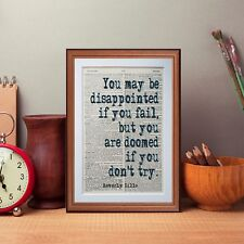Beverly Sills quote dictionary page literary art print book print