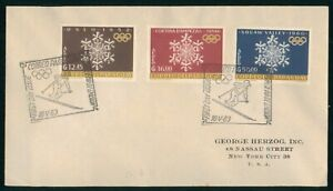 Mayfairstamps Paraguay FDC 1963 Snowflake Combo Olympic Skiing Cancel First Day