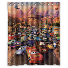 New Disney Pixar Cars Characters Custom Print Waterproof Fabric Shower Curtain