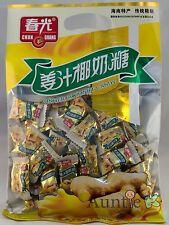 1 BAG Chun Guang Ginger Coconut Hard Candy 7.05 oz ~45 pcs SAVE COMBINED SHIP