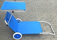 Strandliege Alu Gartenliege Sonnenliege Liegestuhl Relaxliege Liegestuhl Blau