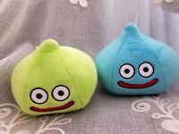 Dragon Quest  small Plush Doll Stuffed toy slime 2pcs JAPAN 2018 Blue Green