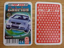 Auto Quartett Cabrios VW EOS Toyota MR Morgan AERO Mini Cooper Mercedes SLK