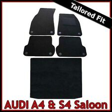 Audi A4 Saloon B6 2001-2006 Tailored Fitted Carpet Car and Boot Mats BLACK