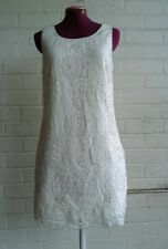 Forever New multi Ivory/ Cream/ White Lace floral Summer Dress Size 12