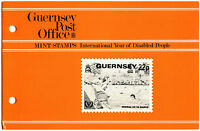 Guernsey 1981 Int. Year Of Disabled People MNH Presentation Pack #C40469