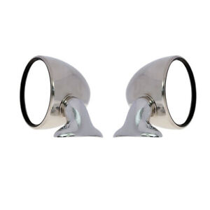 Fit Classic Sporty Car BMW M1 1975-80 Chrome Stainless Steel Door Fander Mirrors