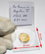 100 Pochettes Numismatiques Rangement Classement Pièces de Monnaie double rabat