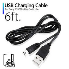 6 FT USB 2.0 Wireless Controller Charger Cable For SONY PS3 Black