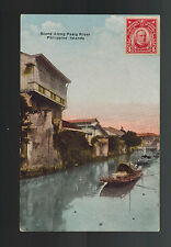1910s Philippines PPC Postcard Cover Scene on Pasig River