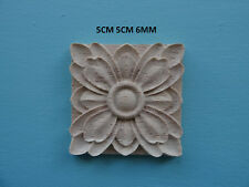 Decorative wooden appliques flower square furniture mouldings onlay WK18