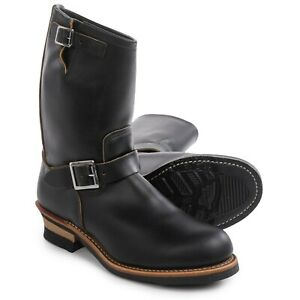 """New Red Wing Heritage 11"""" Mens Engineer Boots 9268 BLACK 2nds STEEL TOE SZ 8 8.5"""