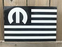 MOPAR AMERICAN MUSCLE Flag Black White Metal Sign