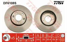 2x TRW Disques de Frein Avant Ventilé 300mm pour HYUNDAI SONATA TUCSON DF6108S