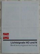 BUSCH Lichtsignale H0 N Bedienungsanleitung 1993 Ratgeber Literatur