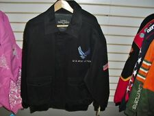 Air Force Coat Jacket back/ front patch sz XL Black w/ tag MINT twill NEW *SALE*