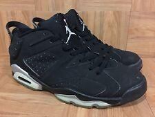 RARE🔥 Nike Air Jordan VI 6 Retro Low Black Metallic Silver Sz 11 304401-061 LE