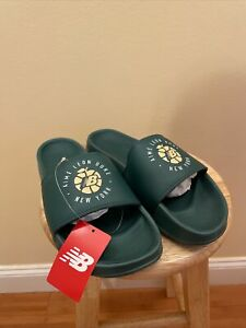 new balance nb aime leon dore ald sandals slides green size 11 new with box