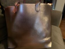 NWT - Bath & Body Works METALLIC ROSE GOLD Tote Shopper Purse Laptop Travel Bag