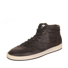 RRP €185 PHILIPPE MODEL Leather Sneakers Size 40 UK 6 US 7 High Top Perfotated