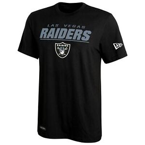 New Era NFL Men Las Vegas Raiders Stated Short Sleeve Performance T-Shirt, Black