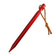 6pcs 18cm 700I Peg Nail pieu piquet de Tente avec corde En alliage d'aluminium /