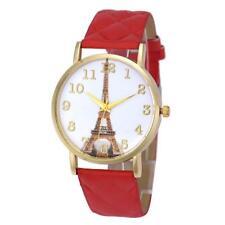Fashion Paris Eiffel Tower Women Watch Faux Leather Analog Quartz Wrist Watches