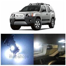 10Pcs Premium Interior Xenon White LED Lights Package Kit for Nissan Xterra