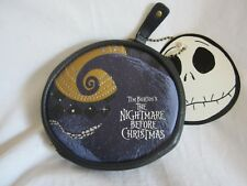 """Nightmare B/4 Xmas, Loungefly round, faux leather coin purse, new, 5"""" (BH)"""