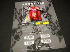 Front 242 Dynamic rare 1993 music biz Promo Display Advert from Off mint cond.